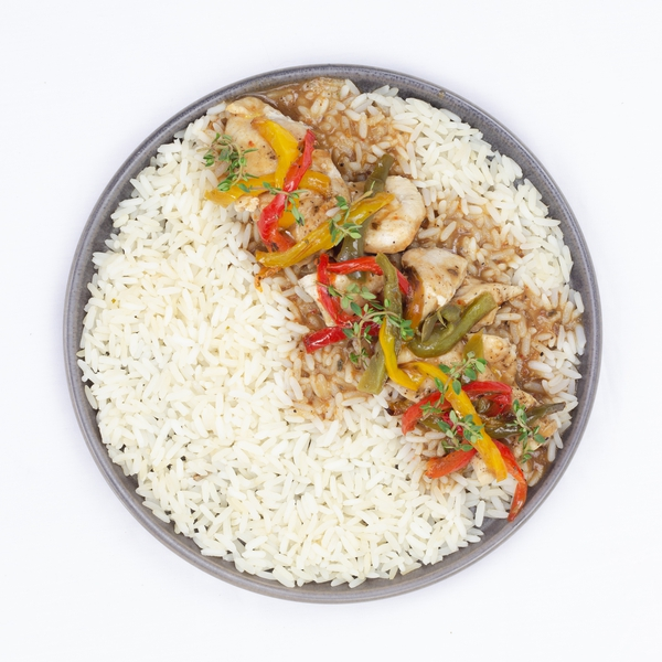 Poulet tikka massala, riz basmati
