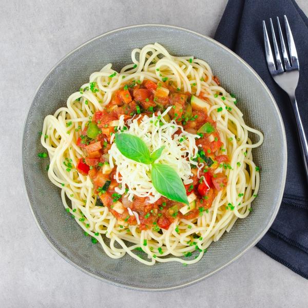 Spaghetti sauce bolognaise végétarienne